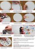 Clock Making Kit  - Round-  30cm with Black & White Hands